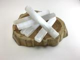 MeldedMind One 6 inch All Natural Selenite Log Wand Bar Energy Cleansing