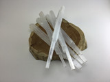 MeldedMind One (1)  10 in Selenite Log Wand Spar Icicle with Drilled Hole Natural Crystal