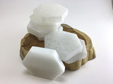3.5 inch Selenite Crystal Hexagon Slab Clear White Cleansing Table