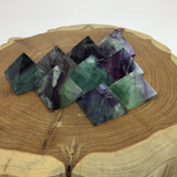 One (1) Small Fluorite Crystal Pyramid 25-28mm Multi Color
