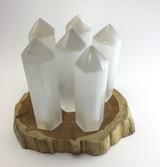 One (1) 6 inch Polished All Natural Selenite Obelisk Crystal Energy Healing MMM2