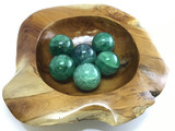 MMME129 One (1) Natural Green Fluorite Sphere 50-54mm Crystal Healing Decor