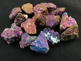 One (1) Medium Rough Iridescent Rainbow Chalcopyrite Specimen Ore Mineral