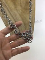 Japanese 2in1 chain followed by 2in1 Triangle Finished with a 12 in 1 Triangle as the Focal Point