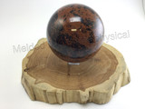 98mm Polished Natural Mahogany Obsidian Sphere Comes with Clear Stand