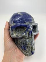 Large Sodalite Crystal Skull 6.7 in 4.7 lbs display home decor specimen