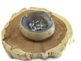 MeldedMind Agate Free form polished bowl and Clear Quartz tumbles, mental clarity and concentration, agate bowl, clear quartz tumble, energy crystal | 759334168