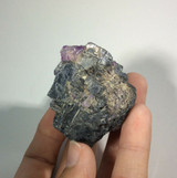 Galena with Fluorite Tip Specimen 171153 Rough Stone Piece Metaphysical