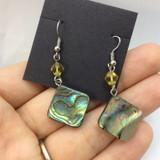 Beautiful Abalone Shell Earrings 170901 Metaphysical Spiritual Healing