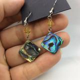Beautiful Abalone Shell Earrings 170902 Metaphysical Spiritual Healing