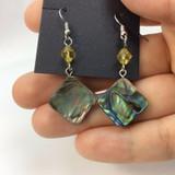 Beautiful Abalone Shell Earrings 170906 Metaphysical Spiritual Healing