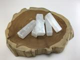 MeldedMind Selenite Log Bars 2.5 inch Wand Natural Rough Crystal Energy