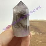MeldedMind Amethyst Phantom Crystal Obelisk 53mm Point Display Healing Decor