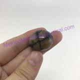 MeldedMind155 Chiastolite Pocket Stone 23mm Tumbled Specimen Metaphysical