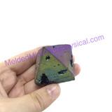 MeldedMind205 Titanium Coated Pyramid 40mm Decor Display Healing