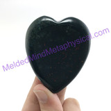 MeldedMind Bloodstone Heart Thumb Palm Smooth Worry 2.16in 55mm Metaphysical 306