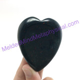 MeldedMind Bloodstone Heart Thumb Palm Smooth Worry 2.20in 56mm Metaphysical 307