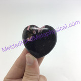 MeldedMind310 Rhodonite Heart Palm Stone 40mm Smooth Worry Pocket Metaphysical