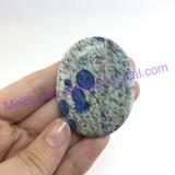 MeldedMind057 K2 Palmstone Oval Smooth Stone 52mm Azurite in Granite