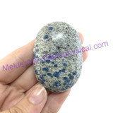 MeldedMind062 K2 Palmstone Oval Smooth Stone 53mm Azurite in Granite