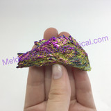 MeldedMind313 Rainbow Titanium Coated Kyanite Blade Pendant 66mm Pre Drilled