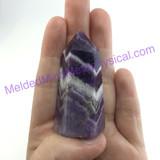 MeldedMind Chevron Amethyst Obelisk 2.2in 56mm Holisitic Crystal Altar Decor 076