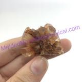 MeldedMind194 Brown Aragonite Crystal Specimen 34mm Sefrou Morocco