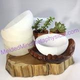 MeldedMind035 One (1) Polished 4in Selenite Bowl Cleansing Crystal Bowl
