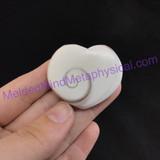 MeldedMind112 Polished Fossil Shell Stone Heart 33mm Jewelry Specimen