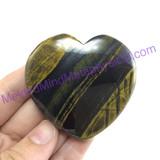 MeldedMind118 Natural Tiger Iron Thumb Stone Heart 54mm Hematite Worry Stone
