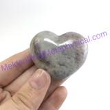 MeldedMind114 Puffed Amethyst Heart 38mm Purple Metaphysical Crystal