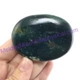 MeldedMind138 Moss Agate Palm Stone 63mm Abundance Metaphysical