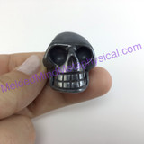MeldedMind200 Hematite Skull 1.37in 35mm Altar Mineral Black