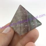 MeldedMind Small Fluorite Pyramid 1.37in 35mm Purple Display Specimen 904