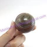 MeldedMind Banded Agate 40mm Metaphysical Healing Crystal 042