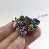 MeldedMind Bismuth Specimen 1.12 inches 28.7mm Germany Rainbow 164