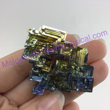 MeldedMind Bismuth Specimen 1.63 inches 41.4mm Germany Rainbow 166