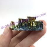 MeldedMind Bismuth Specimen 1.68 inches 42.9mm Germany Rainbow 170