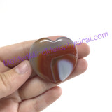 MeldedMind Banded Agate Puffed Heart 39.6mm Metaphysical Healing Crystal 093