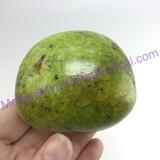 MeldedMind Green African Opal Pistachio Palm Stone 2.42in 61mm Madagascar 470