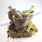 MeldedMind Onyx 4in Mortar&Pestle Great for Herb Grinding and Crushing 216