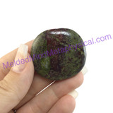 MeldedMind Dragons Blood Jasper Palm Smooth Worry Stone 1.62in 41mm Green Red 095