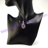 MeldedMind Handmade Faceted Purple Kunzite Gold Wire Wrapped Pendant 230