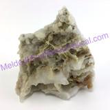MeldedMind Clear Crystal Quartz Cluster 3.33in 84mm Skeletal, Bridge 689