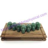 MeldedMind One (1) Green Aventurine Skull 1.44in 36mm Altar Decor Carving 002