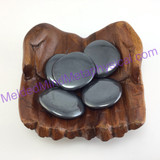 MeldedMind One (1) Hematite Palm Stone 1.48in-1.58in Iron Worry Smooth 056