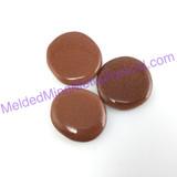 MeldedMind One (1) Goldstone Palm Stone Smooth Worry Pocket 054