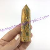 MeldedMind Crazy Lace Agate Obelisk 3.53in Tower Altar Decor Point 283