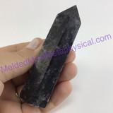 MeldedMind Arfvedsonite Obelisk 3.55in Crystal Black Amphibole 291