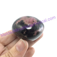 MeldedMind150 Rhodonite Palm Stone 60mm Smooth Worry Pocket Metaphysical